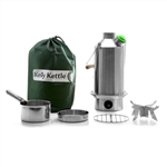 Kelly Kettle LARGE STAINLESS STEEL - Complete Kit
