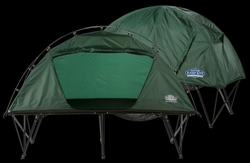 Kamp-Rite Oversize Compact Collapsible Combo Tent Cot with Rainfly