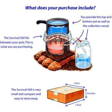 Survival Still Non Electric Portable Water Distiller