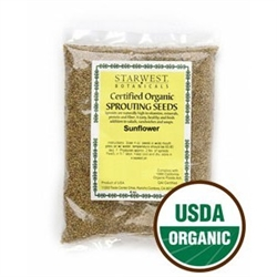 Sunflower Sprouting Seed ORGANIC - 4oz