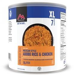 Mountain House Mexican Style Adobo Rice with Chicken #10 Can Case of 6