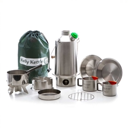 Kelly Kettle BASE CAMP/LARGE STAINLESS STEEL - Ultimate Kit