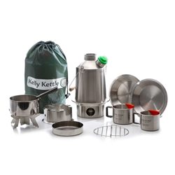 Kelly Kettle SCOUT/MEDIUM STAINLESS STEEL - Ultimate Kit
