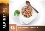 Strawberry Honey Granola with Milk - each