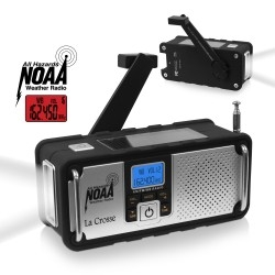 LA CROSSE TECHNOLOGY Hand Crank AM/FM Solar Weather Radio